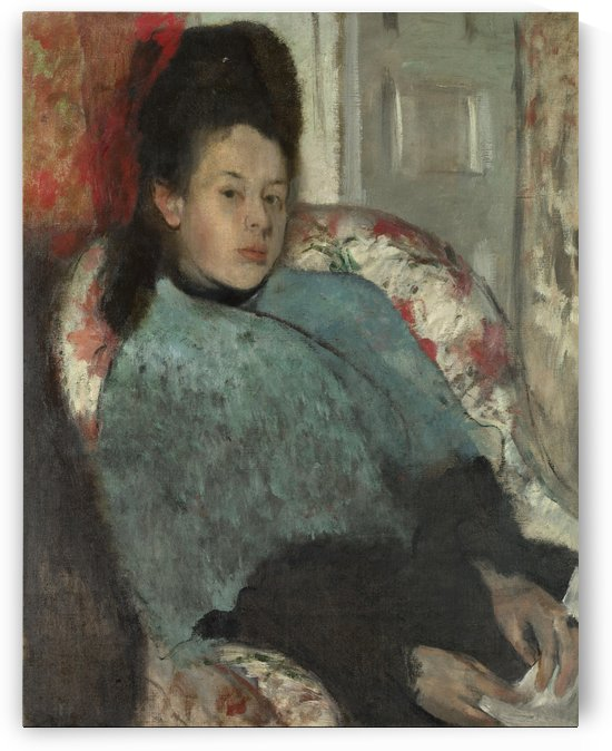 Portrait of Elena Carafa by Hilaire-Germain-Edgar Degas