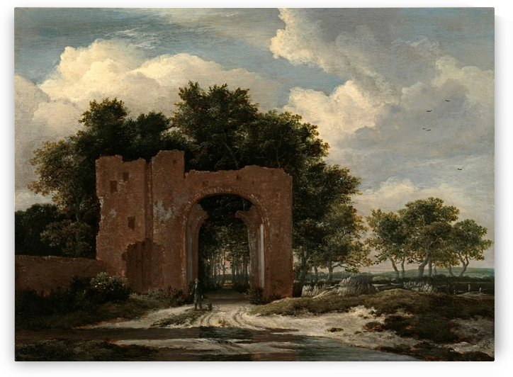A Ruined Castle Gateway by Jacob Van Ruisdael