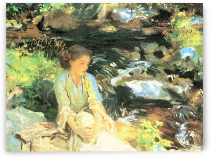 The black creek by John Singer Sargent by John Singer Sargent