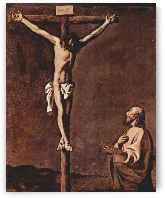 Hl. Lukas als Maler vor dem Gekreuzigten by Francisco de Zurbaran
