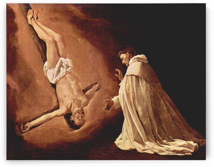 Crucifix with head down by Francisco de Zurbaran