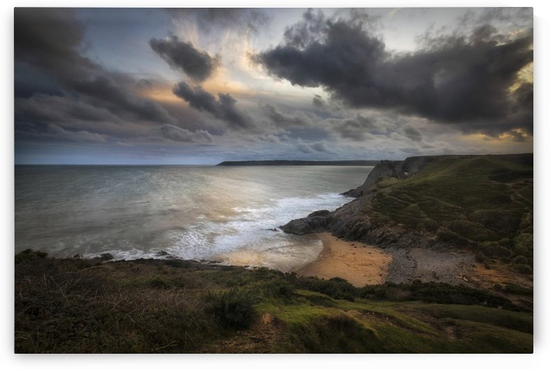 Pobbles Bay and Three Cliffs by Leighton Collins