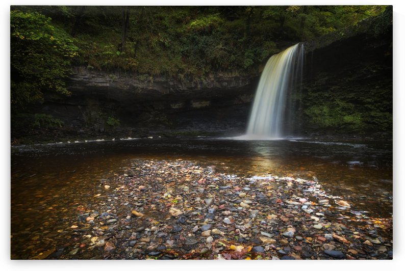 Sgwd Gwladus waterfall after the rain by Leighton Collins