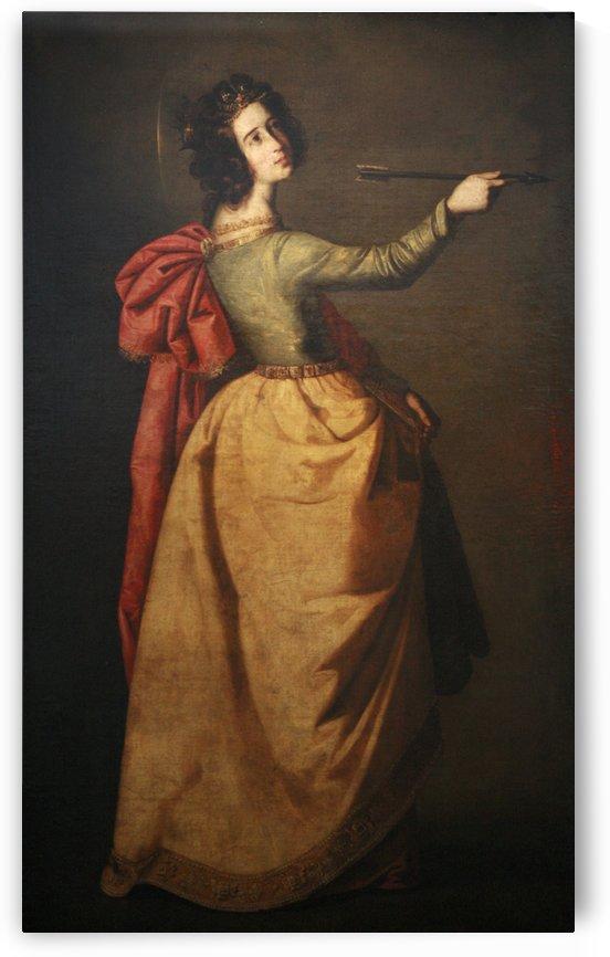 Saint Ursula by Francisco de Zurbaran