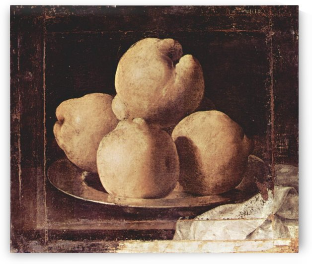 Plate with fruits by Francisco de Zurbaran