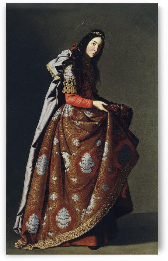 Portrait of Santa Casilda by Francisco de Zurbaran