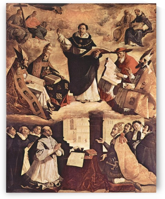 Saint Thomas Aquinas by Francisco de Zurbaran
