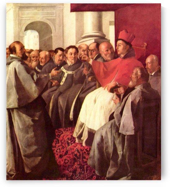 St. Bonaventure at the Council of Lyons by Francisco de Zurbaran