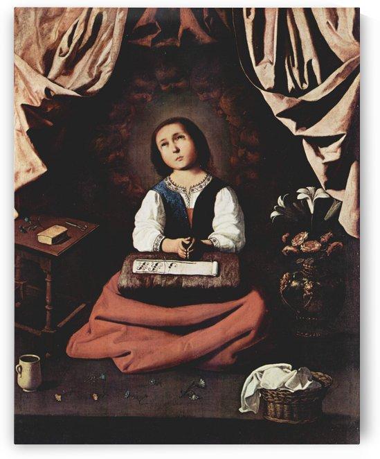 The Young Virgin by Francisco de Zurbaran