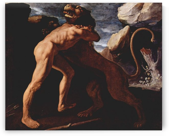 Hercules Fighting with the Nemean Lion by Francisco de Zurbaran