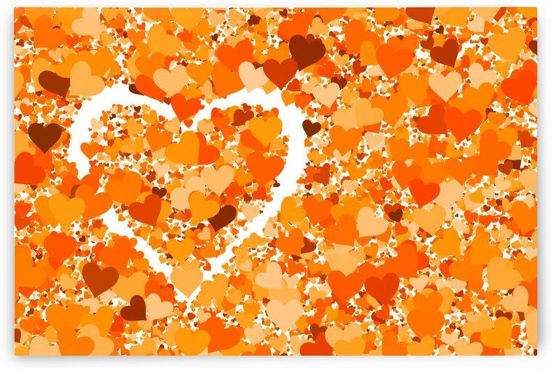 Heart Love orange by Thula-Photography