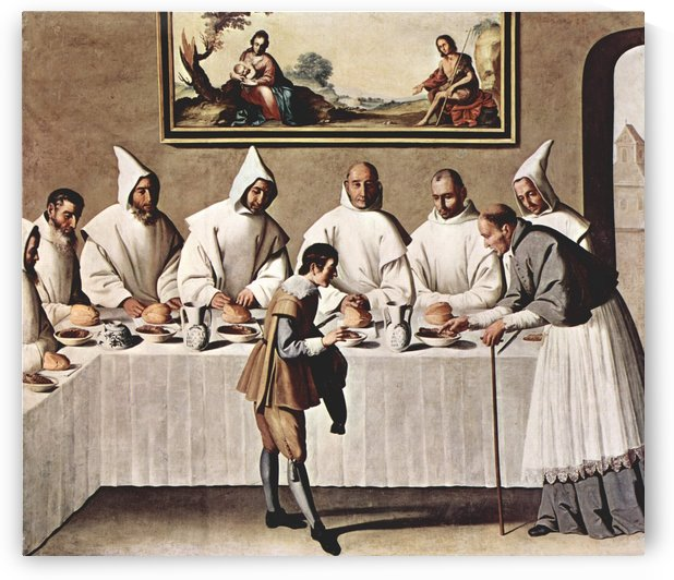 St. Hugh of Cluny in the Refectory of the Carthusians by Francisco de Zurbaran
