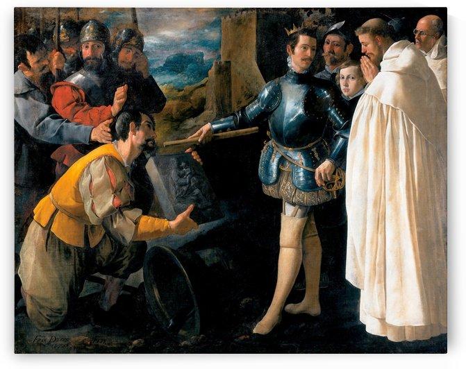 Saint Peter Nolasco Recovering the Image of the Virgin of El Puig by Francisco de Zurbaran