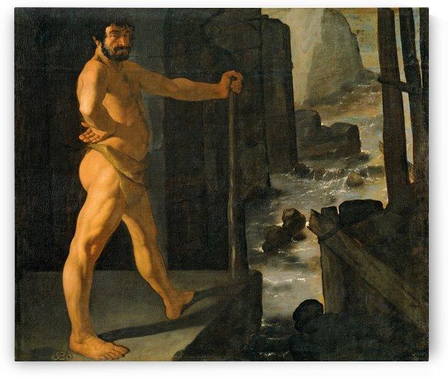 Hercules and Alfeo river by Francisco de Zurbaran