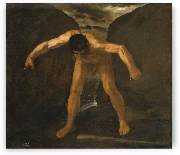 Hercules climbing the mountain by Francisco de Zurbaran