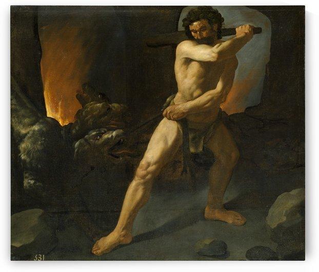 Hercules fighting Cerberus by Francisco de Zurbaran
