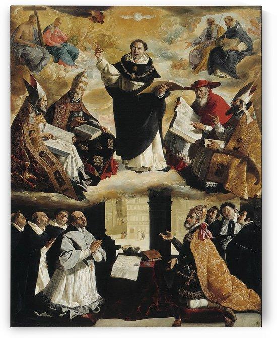 St Thomas Aquinas by Francisco de Zurbaran