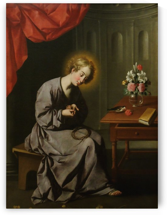 The Child Christ Pricking Himself with the Crown of Thorns by Francisco de Zurbaran