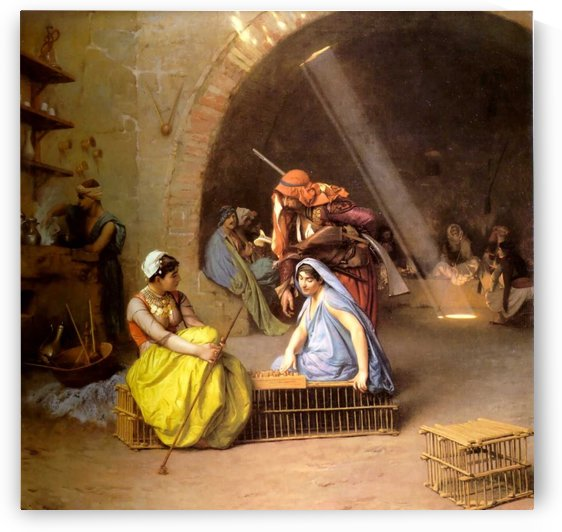 Amehs Playing Chess in a Cafe by Jean-Leon Gerome