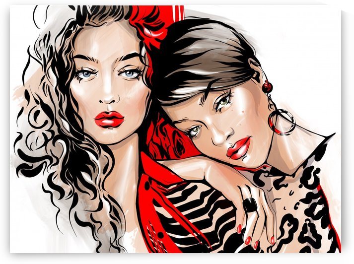 fashion friends by Evgeniya Abramova