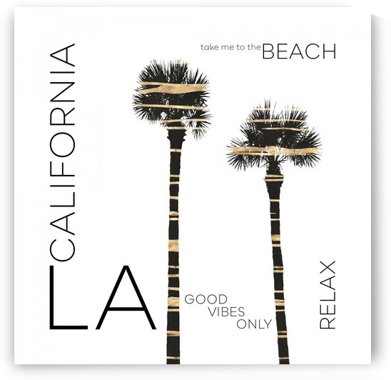 Urban Art LA Palm Trees by Melanie Viola