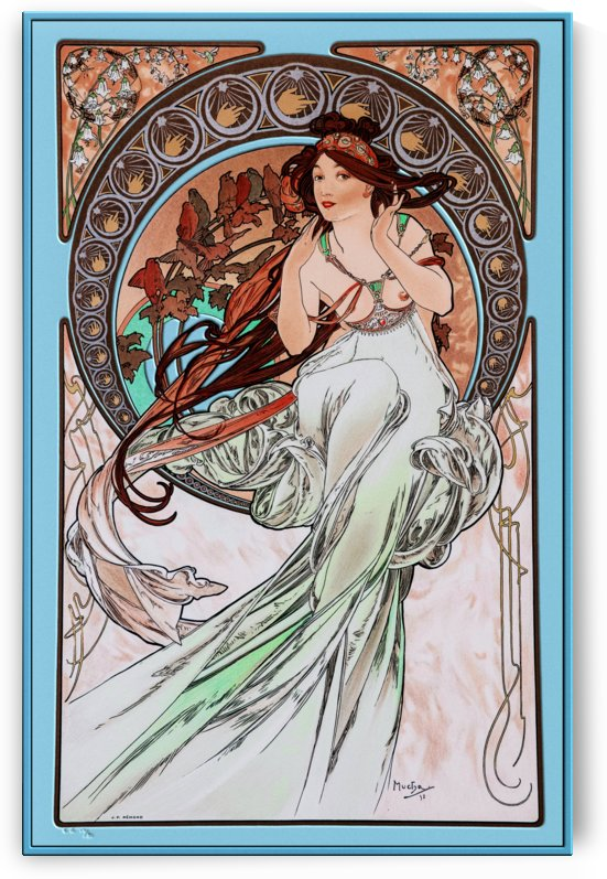 The Music by Alphonse Mucha by xzendor7