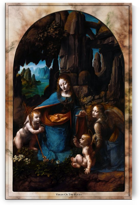 Virgin Of The Rocks by Leonardo da Vinci by xzendor7