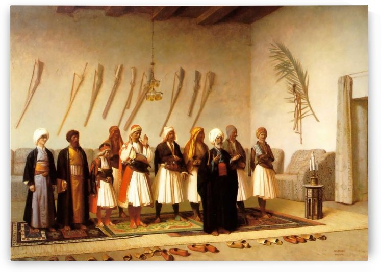 Prayer In The House Of An Arnaut Chief by Jean-Leon Gerome