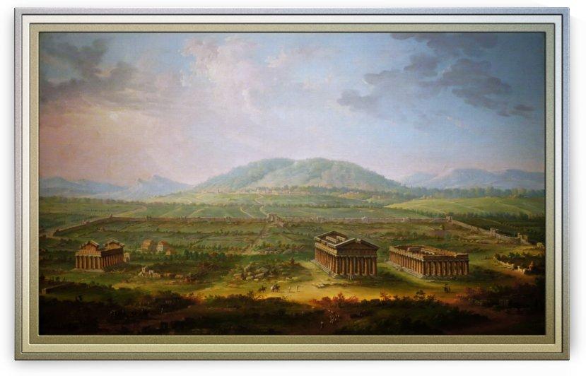 A View of Paestum by Antonio Joli by xzendor7