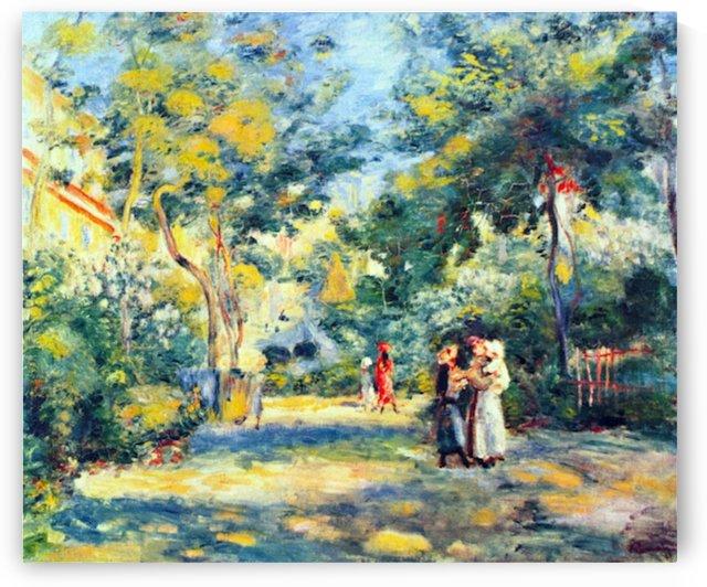 A Garden in Montmartre by Renoir by Renoir