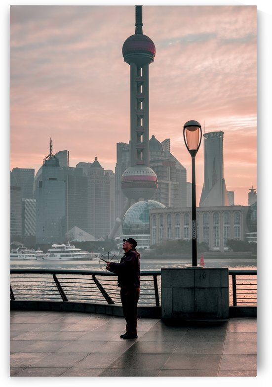 Flying a Kite on the Bund by Jared Paolino