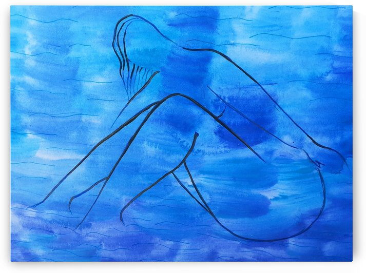 Naked woman in the sea by Maltez