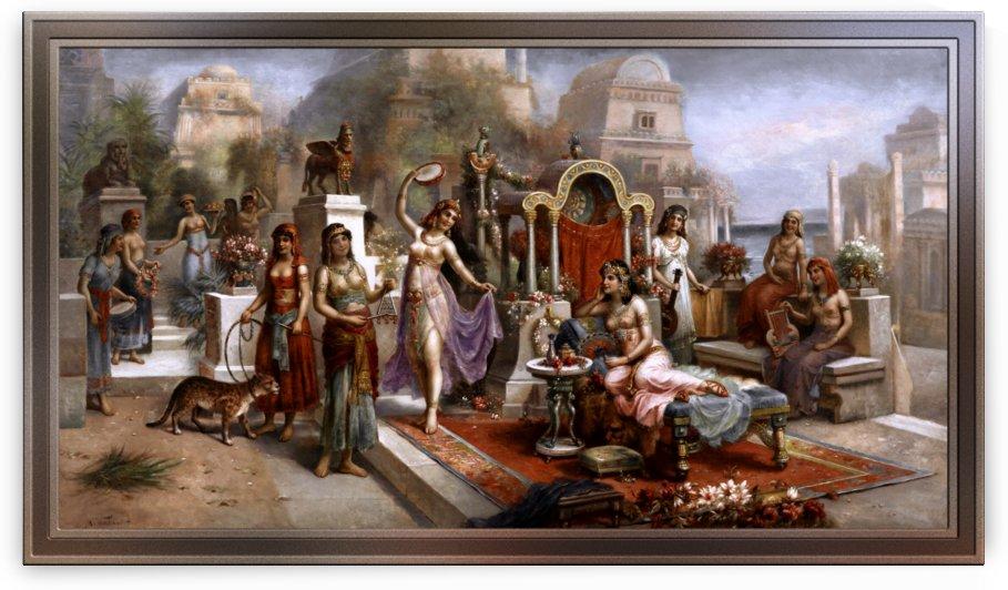 Hanging Gardens of Babylon by Austrian Painter H. Waldeck by xzendor7
