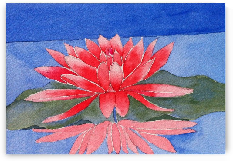 Red Lotus by Donna Stares