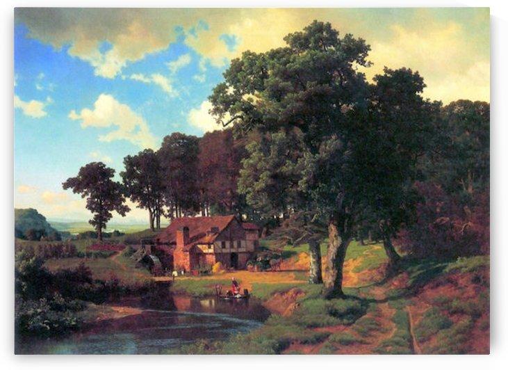 A rustic mill by Bierstadt by Bierstadt
