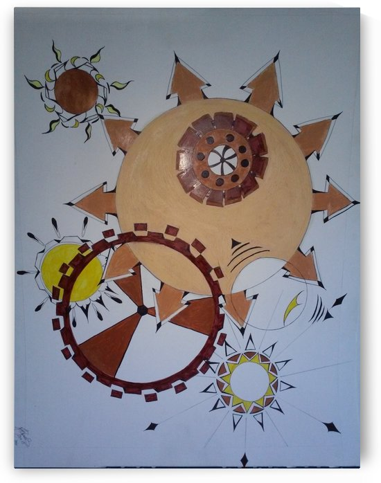 The Peachy Clock Wize Wheel. by Michelle Ramos