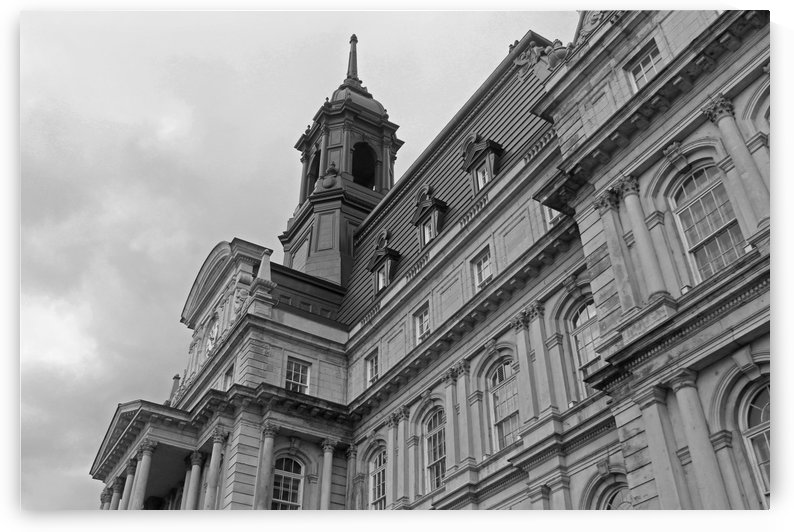 Montreal City Hall B&W by Gods Eye Candy