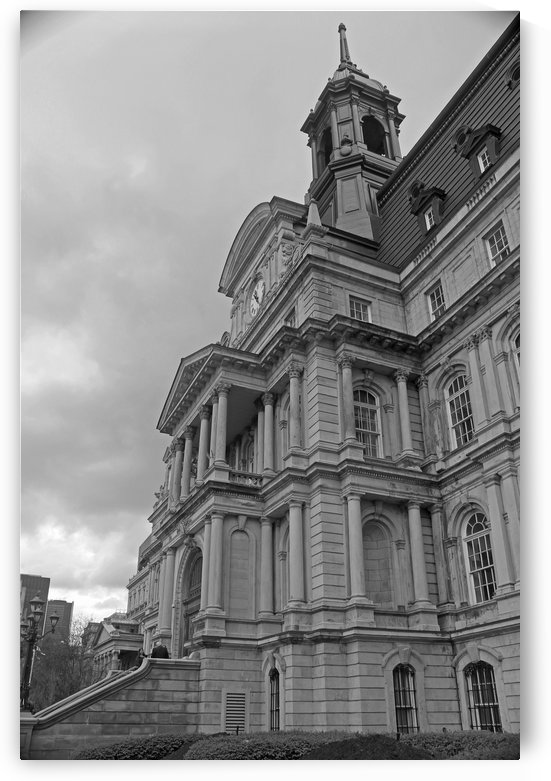 Montreal City Hall Vertical B&W by Gods Eye Candy