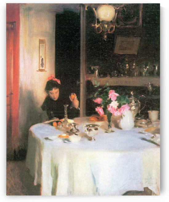 The breakfast table by John Singer Sargent by John Singer Sargent