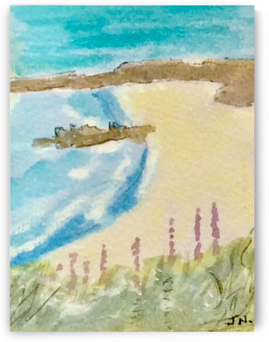 Looking at the beach  by Zaramar Paintings