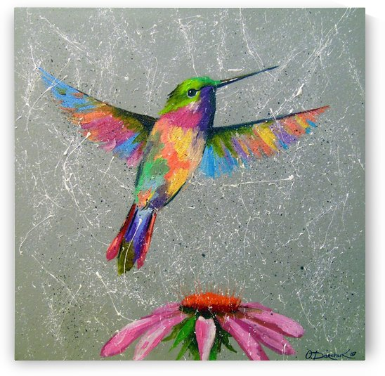 Hummingbird and flower  by Olha Darchuk
