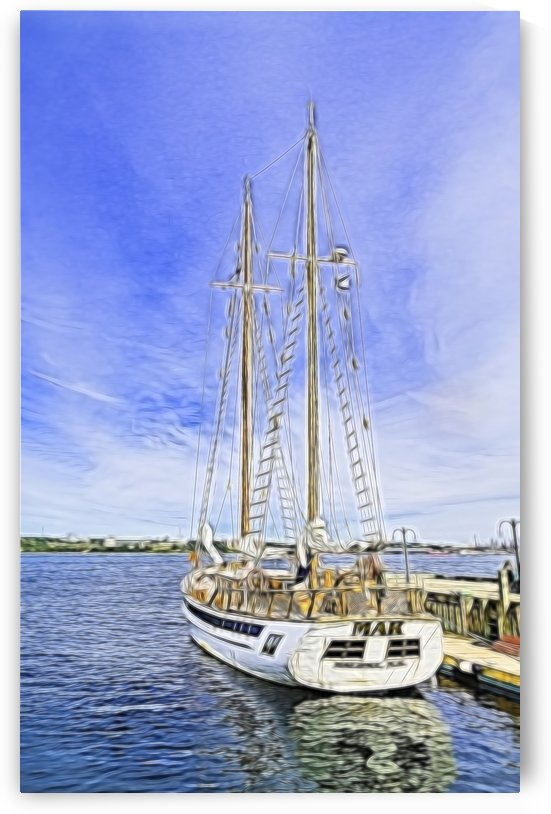 Mar Sailboat in Halifax by Darryl Brooks
