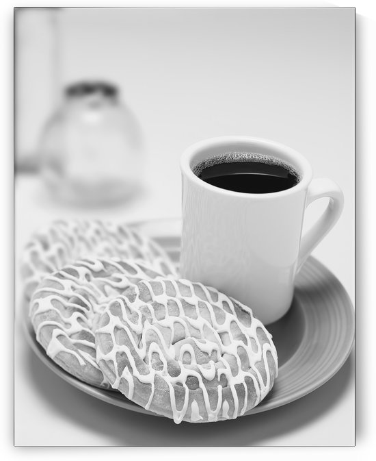 Coffee & Pastry. B&W by Ian Barr