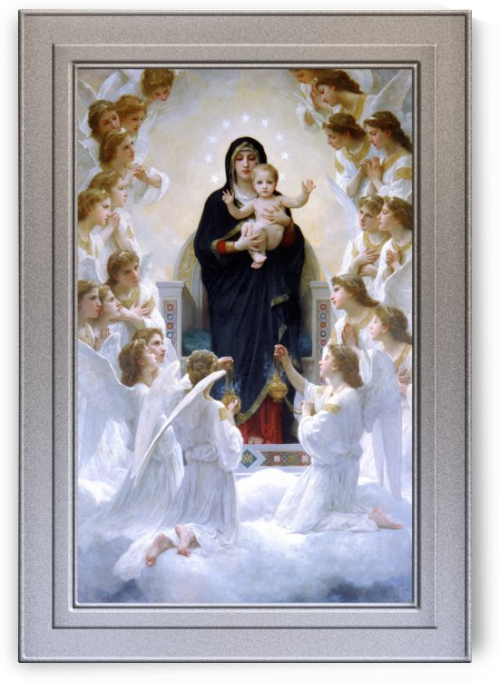The Virgin with Angels by William Adolphe Bouguereau by xzendor7