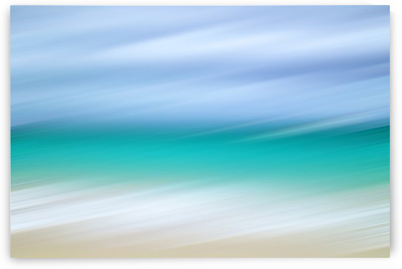 Turquoise Sea and White Sand Beach by Kimberley Bruce