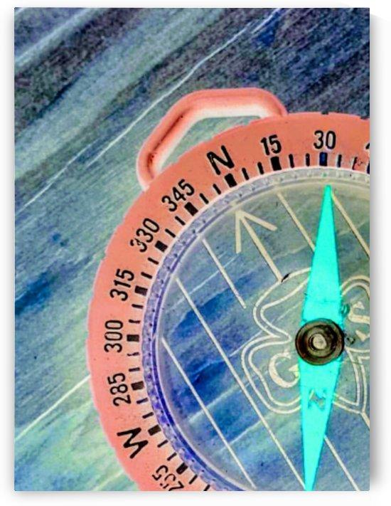 neon compass by Bratty ART