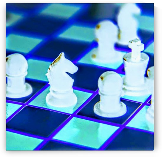 neon chess by Bratty ART