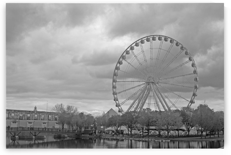 Tallest Ferris Wheel B&W by Gods Eye Candy