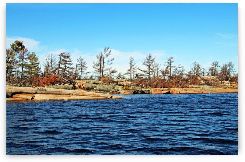 Islands In Georgian Bay French River Delta by Deb Oppermann