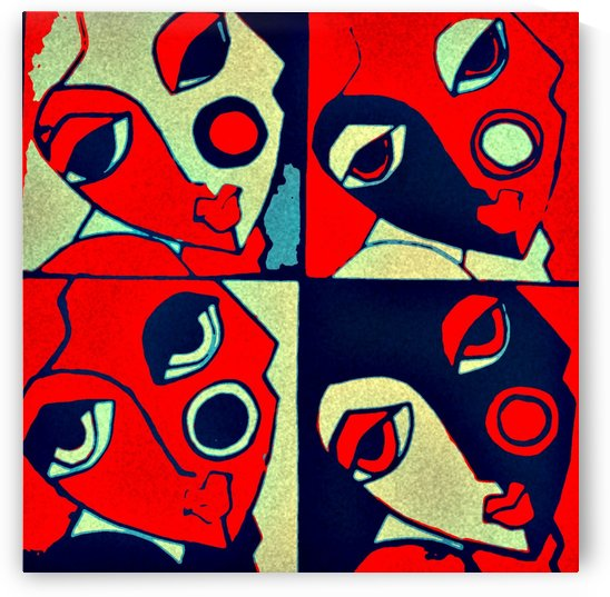 abstract faces by Bratty ART